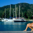 Stock Photo: Port, LDigue, Seychelles