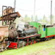 Steam freight train, Kostolac, Serbia — Stock Photo