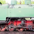 Stock Photo: Detail of steam locomotive, Kolubara, Serbia