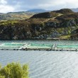 Stock Photo: Salmon farm, Loch a Chairn Bhain, Highlands, Scotland