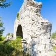 Ruins of Roman aqueduct near Meunerie, Provence, France — Stock Photo