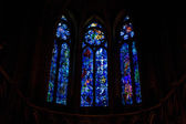 Interior of Cathedral Notre Dame (Marc Chagal), Reims, Champagne — Stock Photo