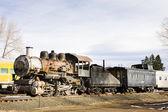 Stem locomotive in Colorado Railroad Museum, USA — Stock Photo