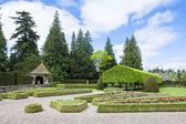 Italian garden of Glamis Castle, Angus, Scotland — Stock Photo