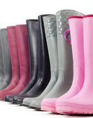 Still life of rubber boots — Stock Photo