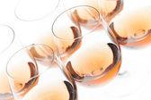Kieliszki z winem różanym — Zdjęcie stockowe