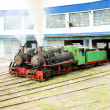 Stock Photo: Steam locomotives in depot