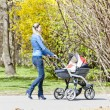 Womwith pram — Stock Photo #34522909