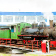 Steam locomotive in depot, Kostolac, Serbia — Stock Photo