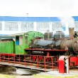 Steam locomotive in depot, Kostolac, Serbia — Stock Photo #35046381