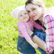 Mother   with little daughter — Stock Photo