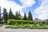 Visa glamis castle från italienska trädgården, angus, skottland — Stockfoto