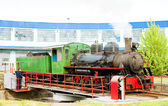 Steam locomotive in depot, Kostolac, Serbia — Stock Photo