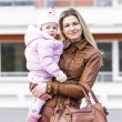 Portrait of mother with little daughter — Stock Photo