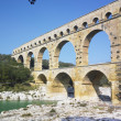 Roman aqueduct, Pont du Gard, Provence, France — Stock Photo #37370357