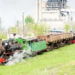 Steam freight train, Kostolac, Serbia — Stock Photo