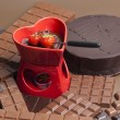 Stock Photo: Chocolate fondue