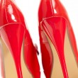 Red pumps — Stock Photo