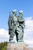 Monumento de comando en spean bridge, highlands, escocia — Foto de Stock