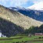 Alps landscape near Filisur, canton Graubunden, Switzerland — Foto Stock