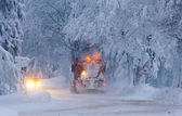 Snow plough, Czech Republic — Stock Photo