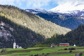 Alps landscape near Filisur, canton Graubunden, Switzerland — Stock Photo