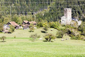 Ruins of Sils Castle, canton Graubunden, Switzerland — Stock Photo