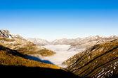 View from Furkapass, canton Graubunden, Switzerland — Stock Photo