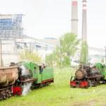 Steam freight train and locomotive, Kostolac, Serbia — Stock Photo