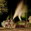 Stock Photo: Steam locomotives at night, Oskova, Bosniand Hercegovina