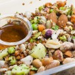 Legume salad with almonds — Stock Photo #38691895