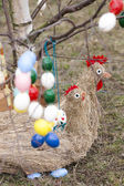 Easter tree with Easter decoration — Stock fotografie