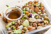 Legume salad with almonds — Stock Photo