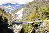 Alps landscape with a bridge near Versam, canton Graubunden, Swi — Stock Photo