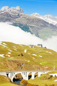 Alps landscape near Andermatt, canton Graubunden, Switzerland — Stock Photo