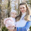 Portrait of mother with little daughter — Stock Photo #39301653