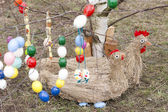 Easter tree with Easter decoration — Stock Photo
