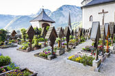 Graveyard in Hallstatt — Stock Photo