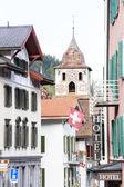 Bergun, canton Graubunden, Switzerland — Stock Photo