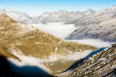 View from Furkapass, canton Graubunden, Switzerland — Stock Photo