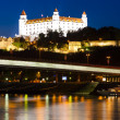 Stock Photo: BratislavCastle at night