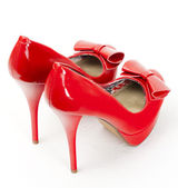 Fashionable red shoes — Stock Photo