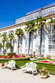 Bloementuin van kromeriz palace — Stockfoto