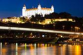 Bratislava Castle at night — Stock Photo
