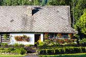 Cottage with plants — Stock Photo