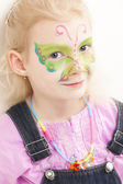 Little girl with face painting — Stock Photo