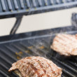 Foto Stock: Beefsteak on electric grill