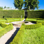 Palace garden in Nachod — Stock Photo