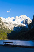 View at Dachstein from Vorder-Gosausee lake — Stock Photo
