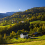 Landscape near fjord Ulvik — Stock Photo